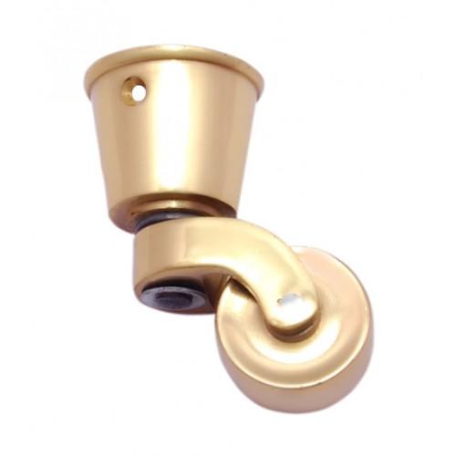 Round Brass Castor